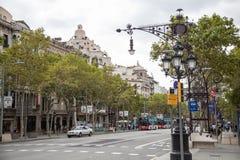 Streets of Barcelona Stock Image
