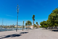 In the streets of Barcelona,near port. Royalty Free Stock Photos