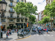 Streets of Barcelona Stock Photos