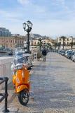 Streets of Bari, Italy. Beautiful seaside city Bari on the south of Italy Royalty Free Stock Photo