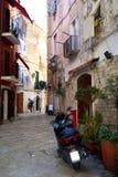 Streets of Bari, Italy. Beautiful seaside city Bari on the south of Italy Stock Photography
