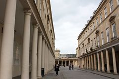 Streets of Bath. Somerset, England where almost every house is listed Royalty Free Stock Images
