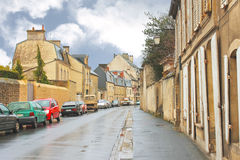 On the streets of Bayeux. Stock Photos