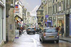 On the streets of Bayeux. Royalty Free Stock Images