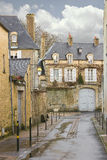 On the streets of Bayeux. Normandy, Stock Image