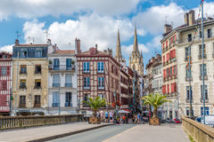 In the streets of Bayonne - France Stock Images