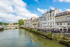 In the streets of Bayonne - France Royalty Free Stock Images