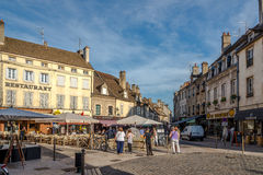 In the streets of Beaune. Royalty Free Stock Photo
