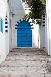 Streets of beautiful Sidi Bou Said Royalty Free Stock Photography