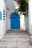 Streets of beautiful Sidi Bou Said Royalty Free Stock Photography