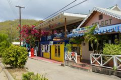 Streets of Bequia, Caribbean Royalty Free Stock Photos