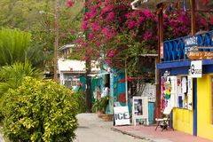 Streets of Bequia, Caribbean Royalty Free Stock Photography