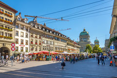 In the streets of Bern Royalty Free Stock Photo