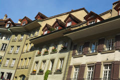 Streets of Bern. View on houses of Bern, capital of Switzerland royalty free stock photos