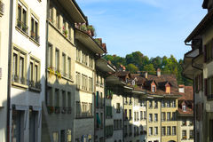 Streets of Bern. View on houses of Bern, capital of Switzerland stock images