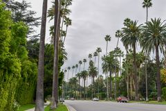 Streets of Beverly Hills, California stock image