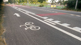 Streets with bike lanes. At Thailand royalty free stock photography