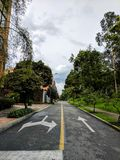 Streets of Bogota. Road in resodential area of Bogota, Colombia Stock Images
