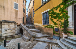 Streets of Bonnieux. Streets of beautiful city Bonnieux in Provence, France Stock Photos