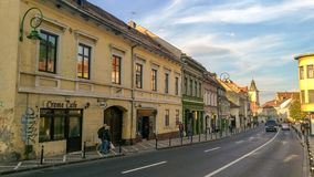 Streets of the Brasov old town royalty free stock photography