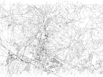 Streets of Brescia, city map, Lombardy, Italy. Street map. Vector map of the city of Brescia Royalty Free Stock Photo