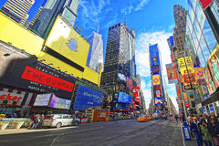 Streets of Broadway and 7th Avenue in Times Square Stock Photo