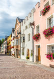 In the streets of Brunico in Italy Stock Photo