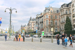 On the streets  in Brussels, Belgium Stock Photography
