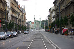 Streets of Budapest royalty free stock photos
