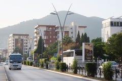 The streets of Budva at a velvet season Stock Image