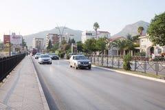 The streets of Budva at a velvet season Royalty Free Stock Images