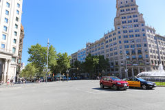 Streets and buildings in Barcelona Royalty Free Stock Photography