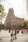 Streets and buildings in Barcelona royalty free stock images
