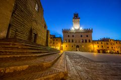 Old town in Montepulciano in Tuscany royalty free stock photos