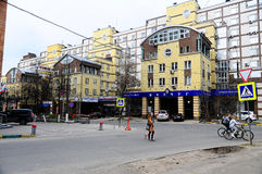 Streets and buildings in Nizhny Novgorod in Russia Stock Photo