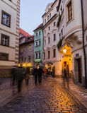 Streets and buildings in Old Town Prague Stock Images
