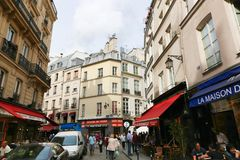 Streets and buildings in Paris Royalty Free Stock Photo