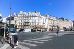 Streets and buildings in Paris Royalty Free Stock Image
