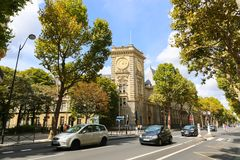 Streets and buildings in Paris Stock Photos