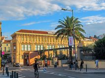 Streets and buildings of Perpignan Pyrenees-Orientales, France royalty free stock images