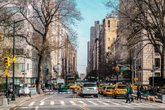 Streets and Buildings of Upper East Site of Manhattan, New York Royalty Free Stock Images