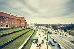 Streets and buildings  of Warsaw Royalty Free Stock Photography