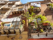 The streets of Cagliari in Sardinia royalty free stock photography