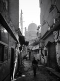 Streets in Cairo black and white. Egypt Cairo shot Stock Photography