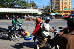 On the streets of Cambodia Stock Photography