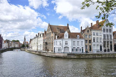 Streets and canals of the old town of Bruges in Belgium Royalty Free Stock Photos