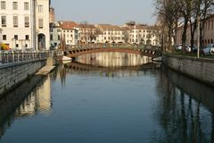 Streets and canals in Treviso Royalty Free Stock Image