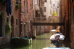 Streets and canals of Venice Royalty Free Stock Images