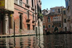 Streets and canals of Venice. This unforgettable and romantic Venice royalty free stock image