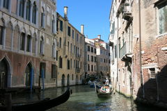 Streets and canals of Venice Stock Images